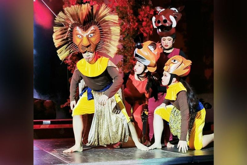 DAVAO. LCB scholars and siblings Sean and Alana Boquiren star as Grown Simba and Grown Nala, respectively, while Danika Bea Escamillan and Amanda Mata play the roles of the lovable and hilarious Pumba and Timon. (Janette Huang-Teves)