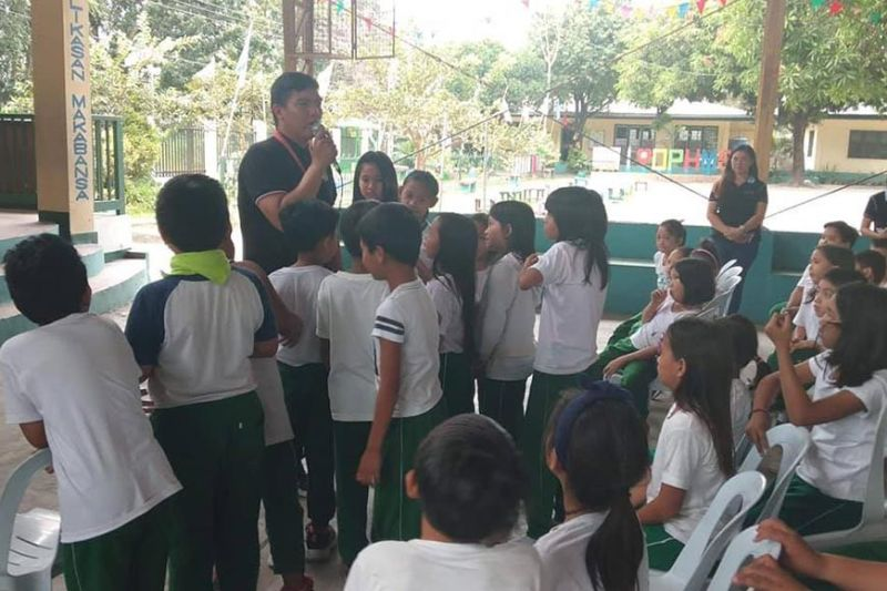 PAMPANGA. The Angeles City Government, led by Mayor Carmelo Lazatin Jr., through the City Environment and Natural Resources Office, conducted environment educational programs in various schools and barangays around the city. (Angeles City PIO)