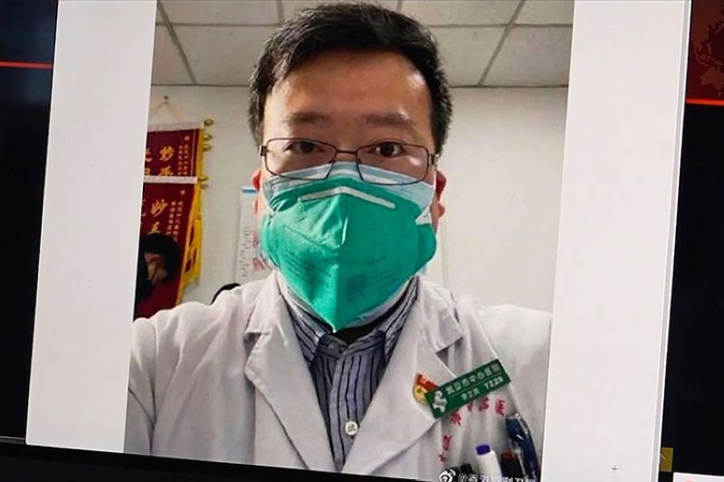 CHINA. This image from video, shows a selfie of Dr. Li Wenliang. The Chinese doctor who got in trouble with authorities in the communist country for sounding an early warning about the coronavirus outbreak died Friday, Feb. 7, 2020, after coming down with the illness. (AP)