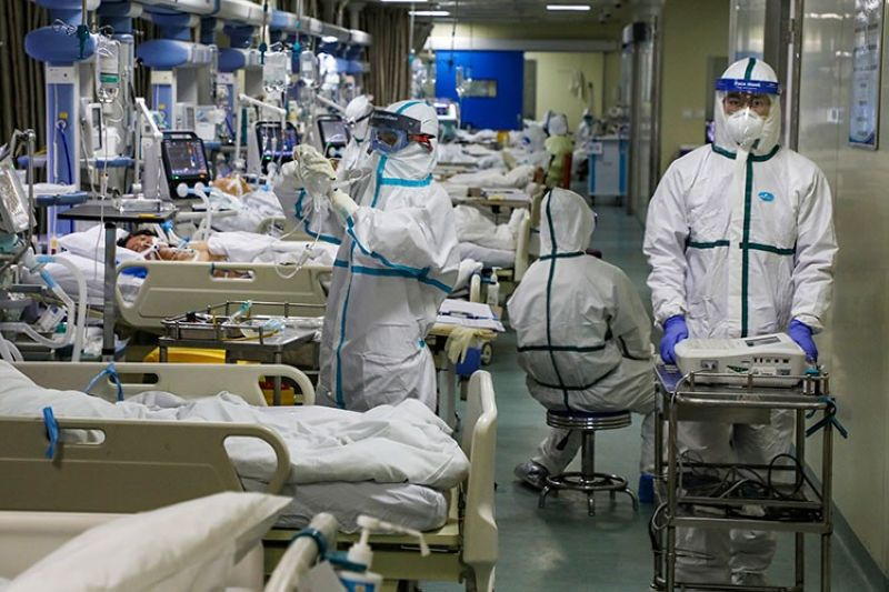 CHINA. In this Thursday, February 6, 2020, photo, medical workers treat patients in the isolated intensive care unit at a hospital in Wuhan in central China's Hubei province. (AP)
