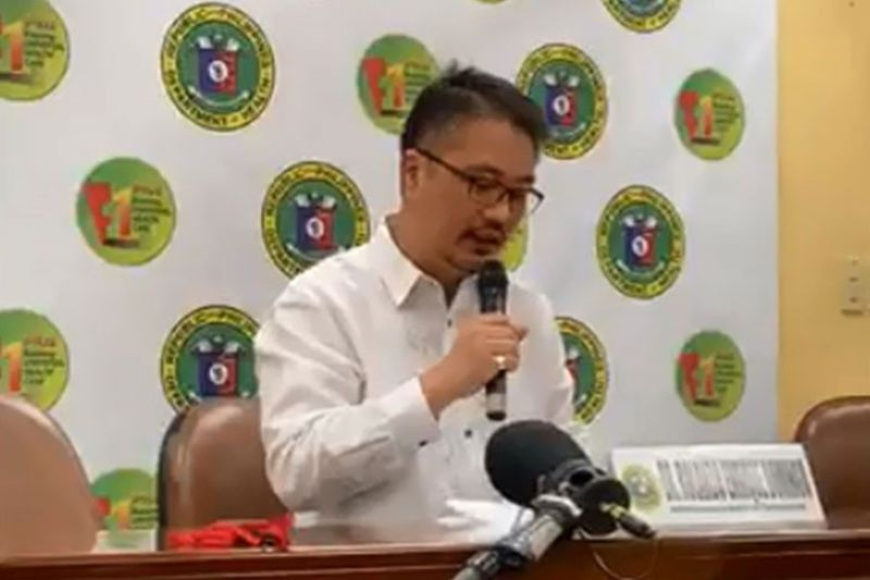 MANILA. Department of Health spokesperson Undersecretary Eric Domingo gives updates on the condition of Filipinos repatriated from Hubei, China and number of patients under investigation for the 2019 novel coronavirus, among others, in a press briefing Monday, February 10, 2020. (Screenshot from DOH video)