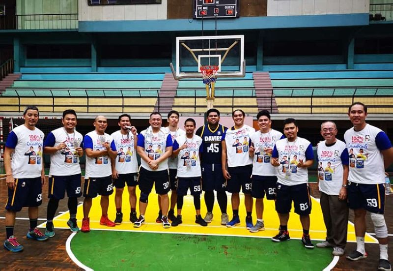 CHAMPIONS. Wall-Art outlasts Megacryl to clinch  the championship in the Architects + Engineers Basketball Club 5th Davies Paints Cup.    (Contributed Photo)