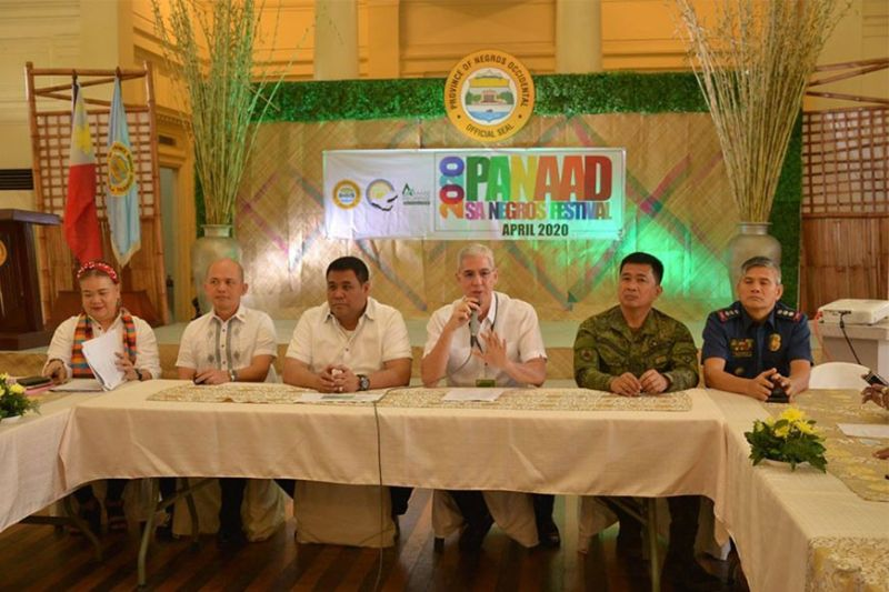 BACOLOD. Negros Occidental Governor Eugenio Jose Lacson (3rd from right) led the official launching of Panaad sa Negros Festival at the Capitol Social Hall in Bacolod City, Tuesday, February 11, 2020. (Photo grabbed from Negros Occidental Facebook page)