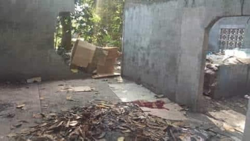 CAGAYAN DE ORO. The abandoned area where a woman was found dead in Barangay Natumolan, Tagoloan, Misamis Oriental early morning of Monday, February 10. (Photo courtesy of Menzie Montes/IFM)