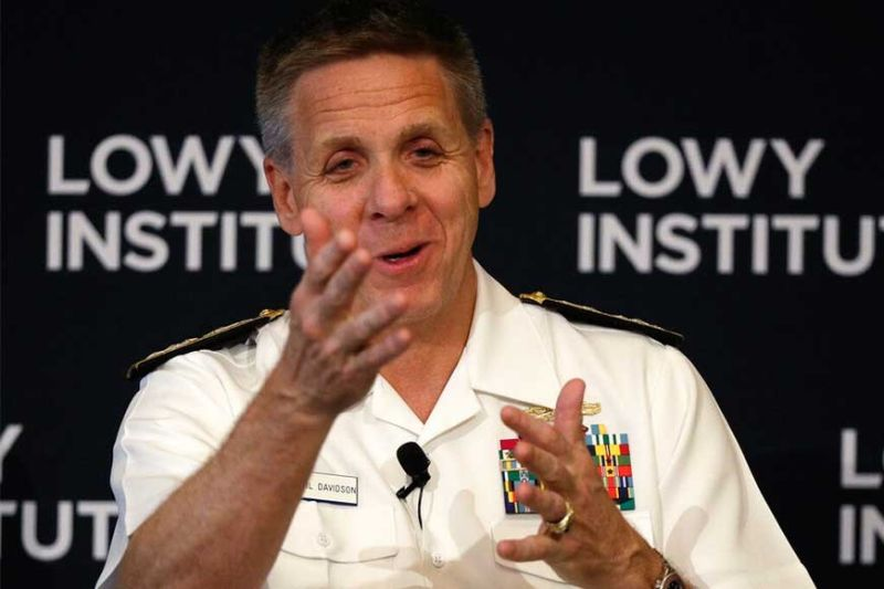 AUSTRALIA. Adm. Philip Davidson, commander of the US Indo-Pacific Command, speaks at the Lowy Institute in Sydney, Thursday, February 13, 2020. Countries that established closer ties to China in expectation of economic growth and infrastructure development