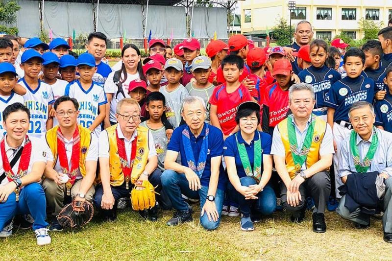 DAVAO. Some batters with organizers and sponsors of the 14th Davao City Baseball Cup held recently at Lt. Cipriano Villafuerte Sr. Elementary School in Calinan, Davao City. (Contributed photo)