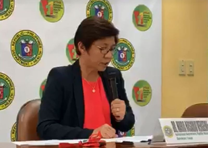 MANILA. DOH Assistant Secretary Dr. Maria Rosario Vergeire gives updates on the Covid-19 cases in the country on Friday, February 14, 2020. (Screenshot from DOH video)