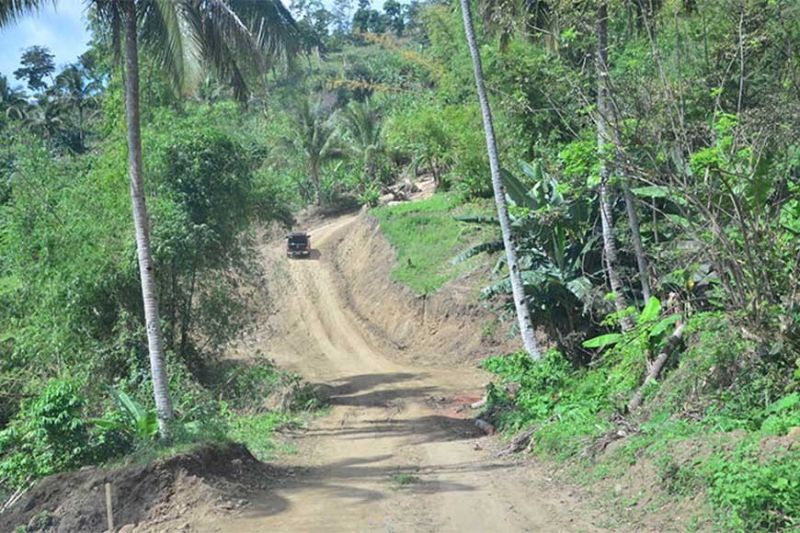 ILOILO. This is Quipot-Barasalon road in the upland area of Janiuay town. A 2.74-kilometer concrete pathway will be constructed in this area under the Forestland Management Project of the Department of Environment and Natural Resources funded by the Japanese government through the Japan International Cooperation Agency. (Contributed photo)