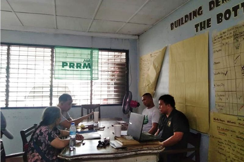 BACOLOD. Members of Group of Environmental Socialists meet with representatives of DAR-Negros Occidental I to raise concerns and issues affecting agricultural lands in the province at the agency's Provincial Office in Bacolod City Thursday, February 13, 2020. (Contributed Photo)