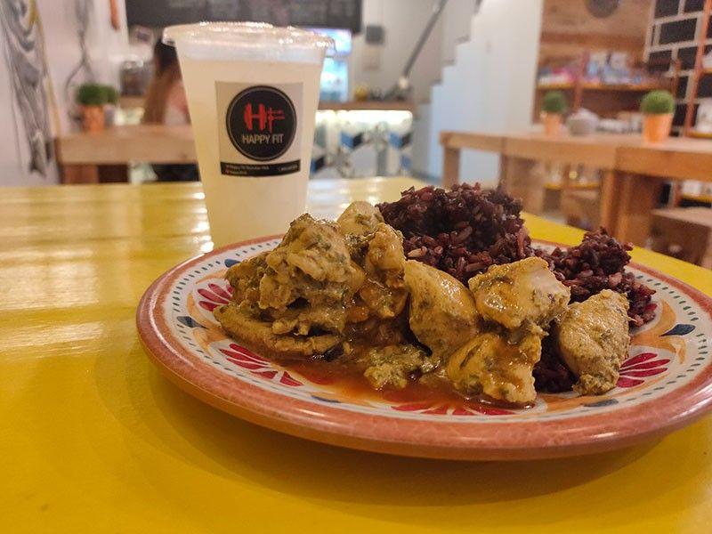 Chicken Teri with black rice (Photo by Reuel John F. Lumawag)