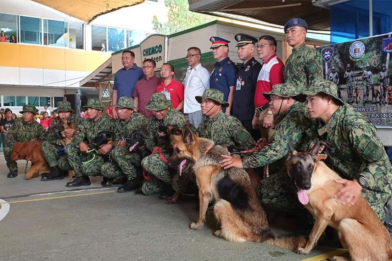 CAGAYAN DE ORO. Pito ka mga K-9 dogs ang gidonar sa lokal nga kagamhanan sa siyudad ngadto sa Cagayan de Oro City Police Office. (Kris C. Sialana)