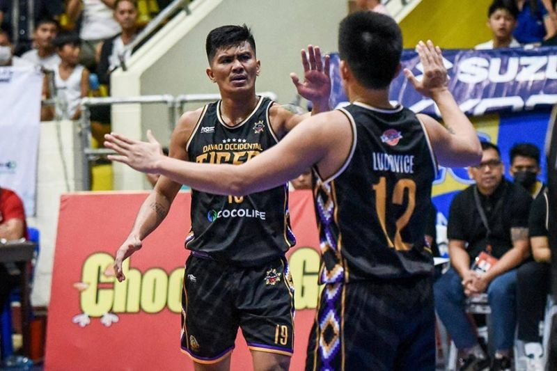 Former University of the Visayas Green Lancers guard Eman Calo scored 18 points to lead Davao Occidental past Bicol. / MPBL