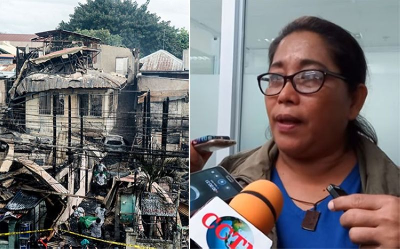 CEBU. (Left photo) House of retired Municipal Trial Court judge Gerardo Estopa Jr. who died with his wife in a fire that hit Barangay Centro, Mandaue City on February 17, 2020. Right photo shows Probe chief Raquel Arce. (SunStar File)