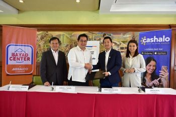 MANILA. (From left) Bayad Center SVP and COO Francispito P. Quevedo, Bayad Center President & CEO Manuel L. Tuason, Cashalo General Manager Hamilton Angluben and Cashalo Deputy Head of Financial Operations Angela Reyes. (Contributed photo)