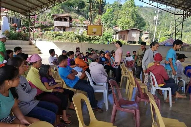 BUKIDNON. Around 21 families also evacuated from Sitio Gabunan in an encounter between soldiers and communist rebels in Mt. Kalatungan and Barangay Dumalaguing, Impasug-ong in Bukidnon early morning of Tuesday, February 18. (Photo courtesy of Joyfaith Obsioma)