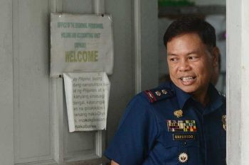 ILOILO. Lieutenant Colonel Jovie Espenido reports to the Regional Personnel and Accounting Unit of the Police Regional Office - Western Visayas on Thursday morning, February 20, 2020, while awaiting the decision of the Regional Adjudication Board. Espenido and 356 other policemen are on President Rodrigo Duterte's narco list. (Photo by Leo Solinap)