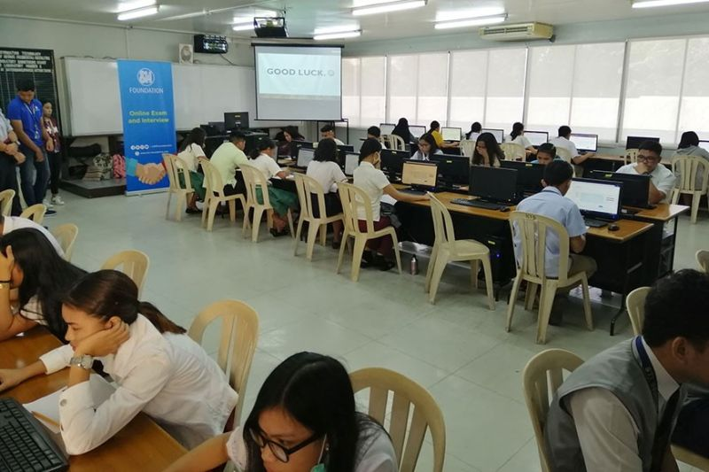 BACOLOD. A batch of Grade 12 students from all over Negros Occidental take the exam for a chance at a college scholarship supported by SM Foundation. PR
