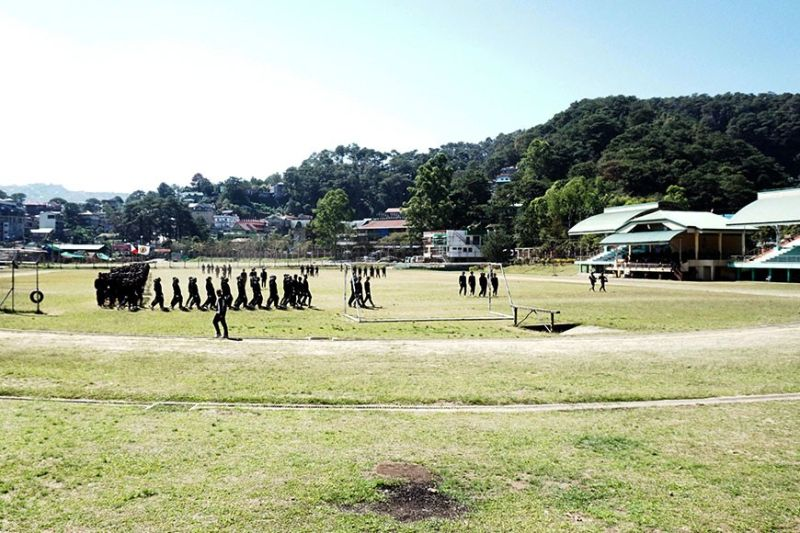 BAGUIO. Aside from athletes, ROTC students also utilize the athletic oval of the Benguet Sports Complex in La Trinidad. Representative Eric Go Yap, the congressional care taker assured an improved sports facility in a bid to strengthen the potential of Benguet as a hub for sports. (Photo by Roderick Osis)