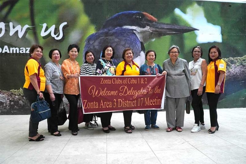 FROM LEFT: Ellen Luna, Zonta 1 internal, vice president; Lorna Mandapat, Area 4 director; Poungthoung Anantanasuwong, Area 6 director; Ofelia Bautista, District 17 treasurer; Primitiva Perez-Sison, past district governor; Stella Bernabe Area 3 director; Armita Rufino, Area 5 director; Anita Sanchez, past Area 3 director; Lerma Coling, Area 1 director; and Ma. Teresa Chan, Zonta Club 1 incoming vice area director. (SunStar Photo / Alex Badayos)