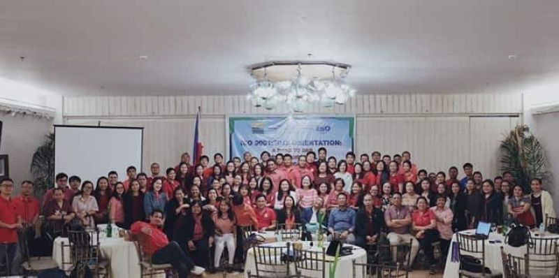 BACOLOD. The second batch of participants during the ISO-QMS Orientation held at the Nature's Village Resort in Talisay City on February 18 to 20. (Contributed Photo)