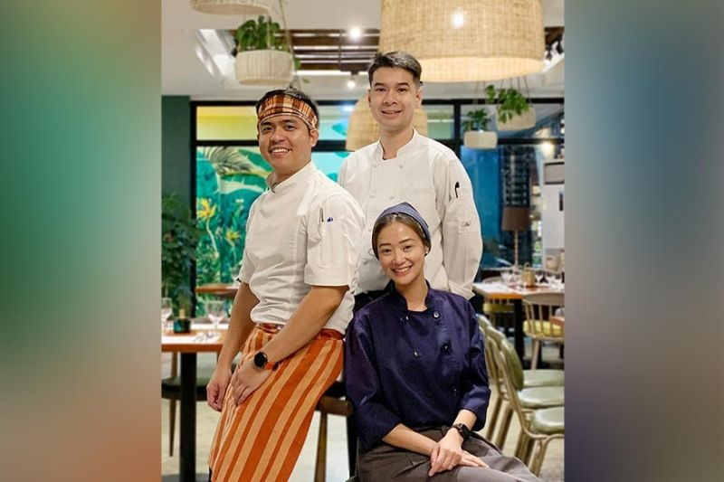 DAVAO. Mr. & Mrs. B culinary team. Consulting Chef Marv Javier, Executive Chef Pauline Benedicto & Pastry Chef Justine Sison (Photo by Jinggoy I. Salvador)