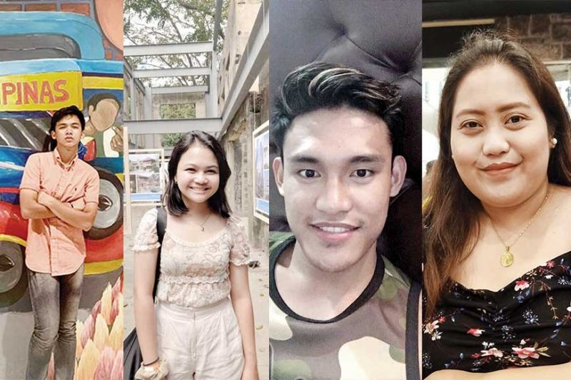 From left: Justine Castro, Kristel Py Bagunas, Tricky Dyn Peromingan, Claire Cabardo
