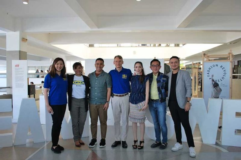 "FROM LEFT: Giselle Yap, Jasmin Cruz, Danreb Mejia, Harald Fries, Kristen Gayagoy, Mario Carbon and the rest of ""Team Sweden."""
