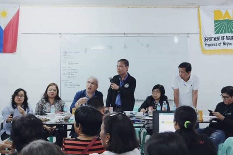 BACOLOD. DAR officials led by Undersecretary for Field Operations David Erro (standing) address the issues and concerns raised by the members of ECJ Cloa Holders and Farmworkers Association (Echafawa) - Magsasaka in a dialogue held at DAR-Negros Occidental I in Bacolod City on Friday, February 21, 2020. (Contributed Photo)