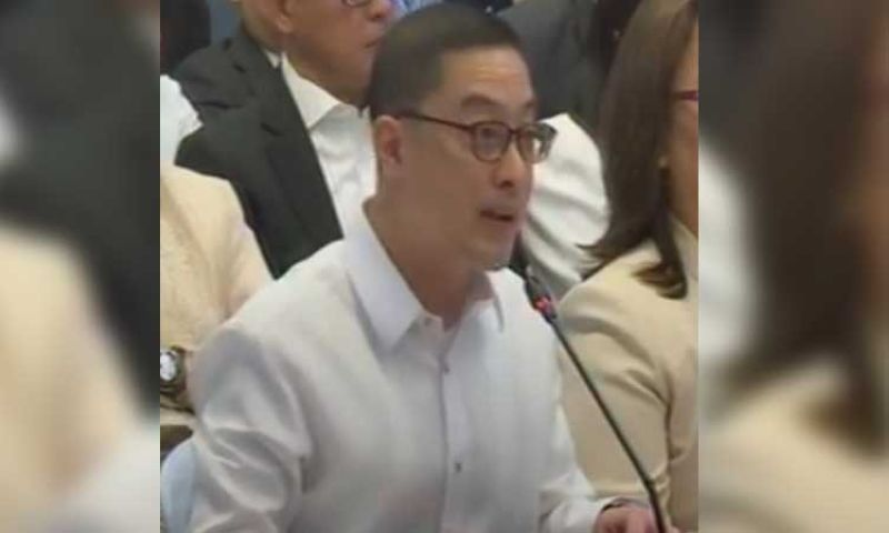 MANILA. ABS-CBN president and chief executive officer Carlos Katigbak appears before the Senate committee on public services on Monday, February 24, 2020. (Photo grabbed from Senator Grace Poe's video)