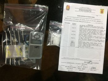 BACOLOD. Operatives of Bacolod City Police Station 3 seized five sachets of shabu weighing 15 grams and with estimated market value of P135,000 during a drug bust in Barangay Banago on February 22, 2020. (Photo courtesy of Bacolod City Police Office)