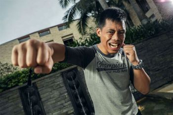 BAGUIO. Honorio Banario stays focused on his goal of returning to the winning circle amid the threat on Covid-19 as he takes on Shannon Wiratchai this coming Friday, February 28, in ONE Championship in Singapore. (ONE Championship photo)