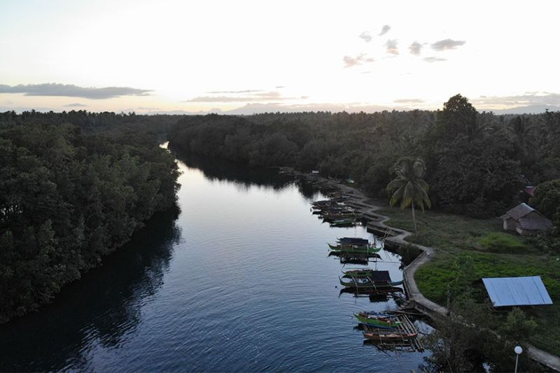 DAVAO. Aerial shot of Nabintad River in Barangay Madaum, Tagum City. (Contributed photo)