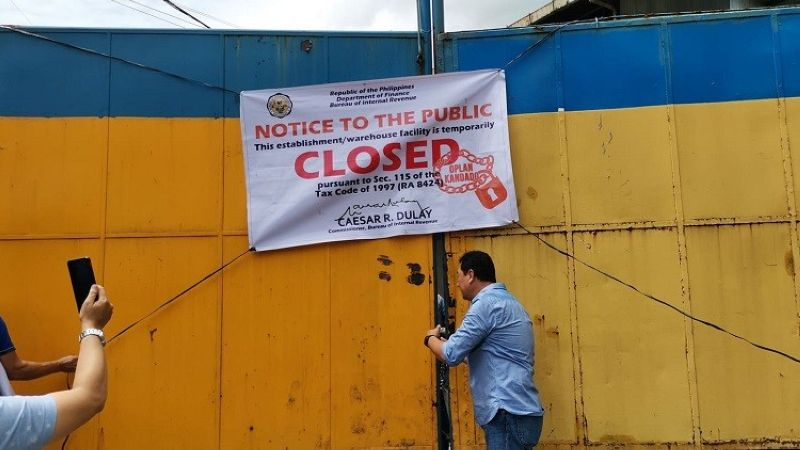 CEBU. The Bureau of Internal Revenue has ordered Thursday, February 27, 2020, the temporary closure of Worldwide Steel Group Inc. along Sacris Road Extension, Barangay Tipolo, Mandaue City, for not declaring its manufacturing business. (Photo by Kate Denolang)