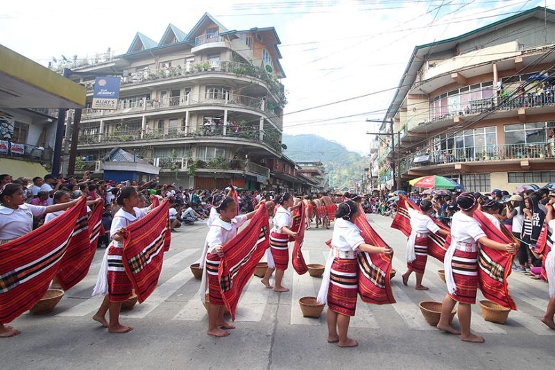 MOUNTAIN PROVINCE. Performers from the different municipalities in Mountain Province showcase their rich culture and traditions during the street dancing parade of Lang-ay Festival in 2019. The festival was cancelled this 2020 by the provincial government amid threat on Covid–19. (Photo by Jean Nicole Cortes)