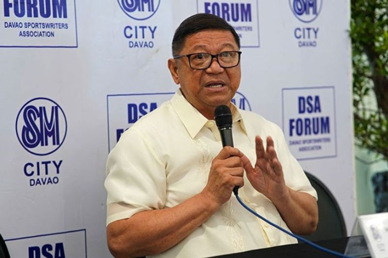DAVAO. Si Philippine Sports Commission chairman William Ramirez, atol sa Davao Sportswriters Association Forum sa The Annex sa SM City Davao, Huwebes, nagsulti nga mga atletang Pinoy way puas ang preparasyon aron makalangkat og luna nga makaduwa sa Tokyo 2020 Olympic taliwala sa kabalaka labot coronavirus disease outbreak. (Macky Lim)