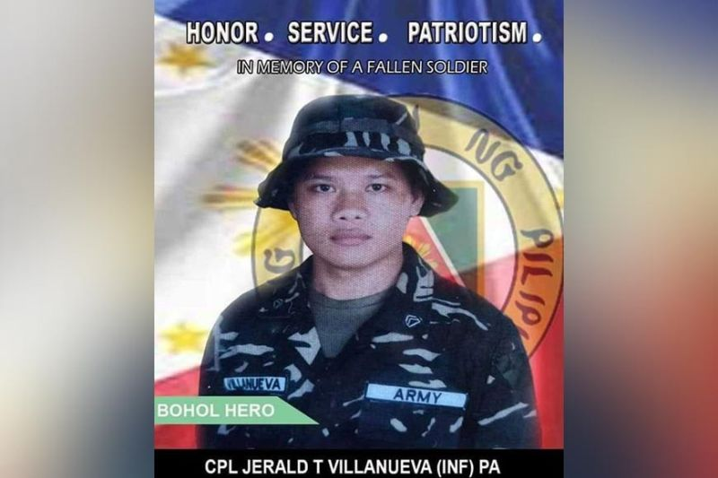 MILITARY CASUALTY. Jerald Villanueva, 26, was the first military casualty in Bohol since the province was declared insurgency-free on Feb. 11, 2010. (Contributed photo / 47th Infantry Battalion)