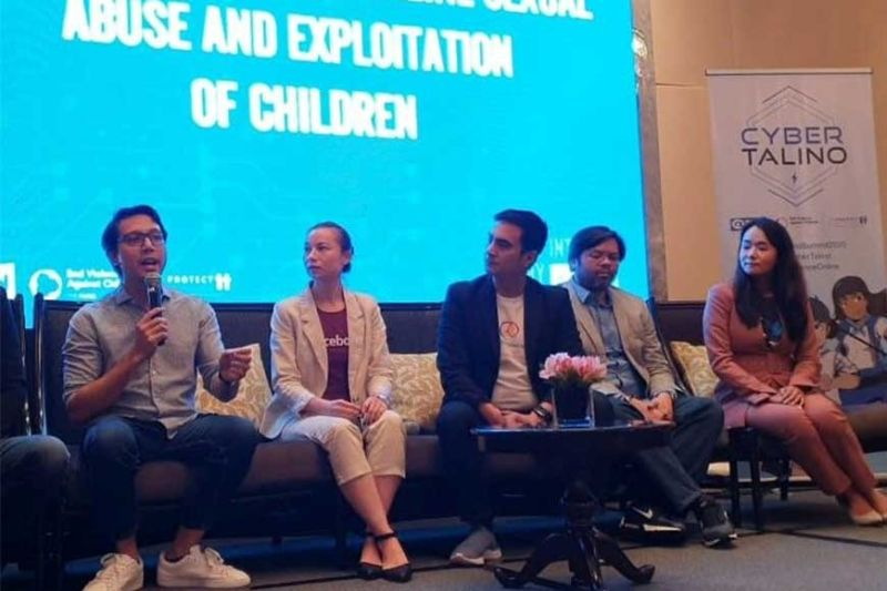 PANALIPDAN ANG KABATAAN: Misaysay si Globe Director for Citizenship and Advocacy Marketing Miguel Bermundo sa mga paning­kamot sa Globe pakigbatok sa pangabuso ug eksploytasyon sa kabataan atol sa panel discussion sa Safer Internet Day celebration sa Plan International. (Tampo nga hulagway)