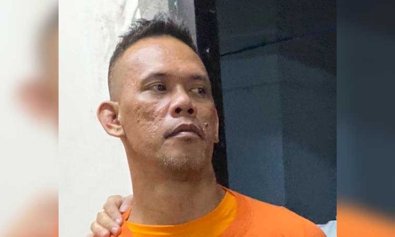 MANILA. Alchie Paray, a former security guard, is charged with frustrated murder, serious illegal detention and illegal possession of firearms and explosives for holding 55 people hostage at the V-Mall in Greenhills Mall on March 2, 2020. (Photo from San Juan City Police)