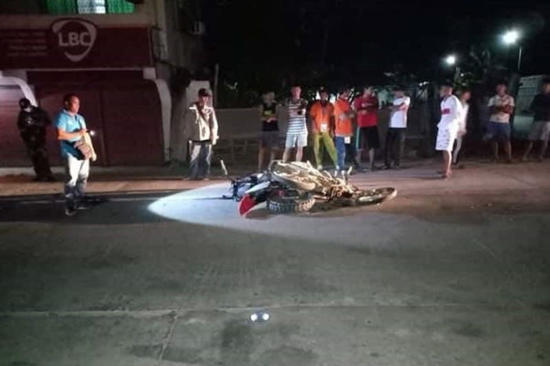 NEGROS. The area at Barangay Balintawak in Escalante City where a motorcycle colission happened resulting in the death of a rider and injured another Tuesday evening. (Photo by Escalante Police)