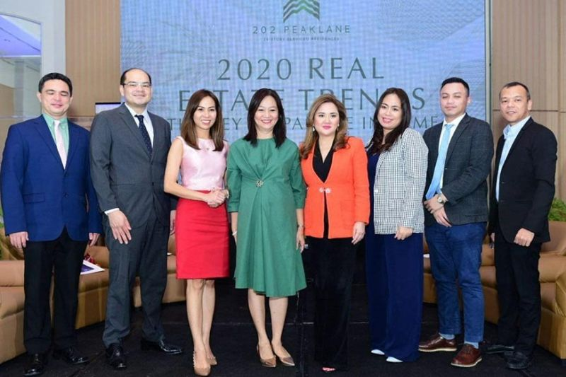 DAVAO. Panelists and special guests. (From left to right) Jose Romarx Salas, director for Global Research and Business Development in Asia-Pacific Region of Leading RE; John Carlo Tria, president of Davao City Chamber of Commerce and Industry; Shiela Lobien, CEO of Lobien Realty Group; Maria Luisa R. Abaya, president of Chamber of Real Estate and Builders Associations(CREBA)-Davao Chapter; Elizabeth Ventura, president of Anchor Land; Stephanie Morales Tujan, radio host and SunStar columnist; Roberto Marco Samson, section head of Business Development of First Metro Securities Brokerage Corp.(Mindanao); and Arwin Tolentino, director for Training, Career, Management and Development Department of Anchor Land. (Contributed photo)