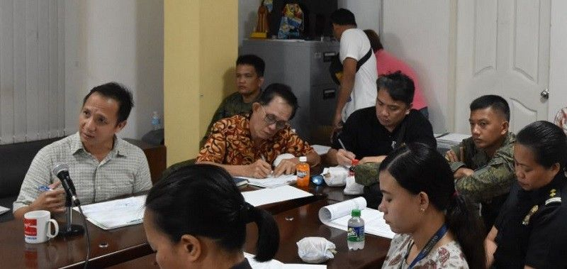 DUMAGUETE. Dumaguete City Vice-Mayor Alan Gel Cordova (leftmost w/ mic) during the recent City Peace and Order Council (CPOC) meeting. The Dumaguete City Police Office in the same meeting reported there are 548 more crimes in 2019 than in 2018, representing a 31.15 percent increase.(PIA Negros Oriental)