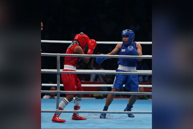 DAVAO. Top seed Nesthy Alcayde Petecio, whose SunStar Davao file photo taken during the 30th Southeast Asian Games 2019, loses her quarterfinals match to Japanese Sena Irie in the Asian and Oceanian Olympic Boxing Qualifying in Amman, Jordan Monday, March 9, denying her a slot in the Tokyo 2020 Olympics. The Filipino Aiba Women's world featherweight champion will gun for another Olympic qualifying bid in May. (File photo)