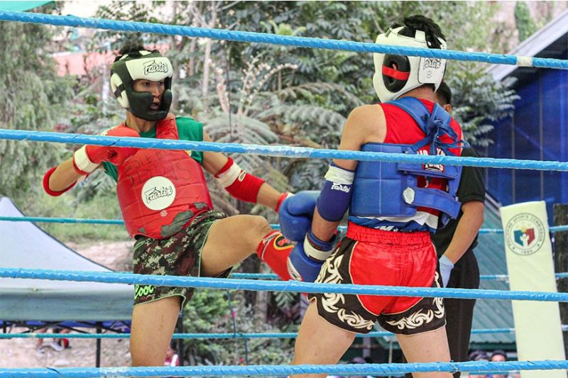 BAGUIO. More than 100 Muay Thai fighters from 20 teams and schools recently saw action in the 2020 Baguio Olympics Muay Thai tournament at the Baguio Athletic Bowl. (Photo by Jean Nicole Cortes)