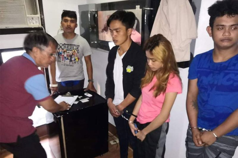 CAGAYAN DE ORO. Three suspects nabbed in an illegal drug operation in a hotel Tuesday, March 10, 2020 in Cagayan de Oro City. (Photo courtesy of PRO-Northern Mindanao)
