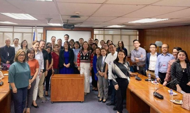 MANILA. The Department of Trade and Industry convened the manufacturers of basic necessities and prime commodities, and alcohol and other disinfectants in a meeting Thursday, March 12, 2020. (Contributed photo)