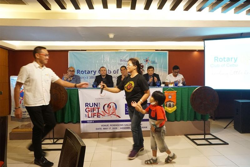 LIFE-SAVER. Four-year-old Alex, one of the beneficiaries of the Run for the Gift of Life, is presented during the event's launching on March 12, 2020. (Sunstar Photo / Alex Badayos)