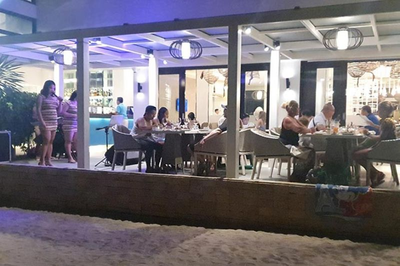 Foreign tourists are still in Boracay Saturday night despite the COVID 19 scare. (Jun N. Aguirre)