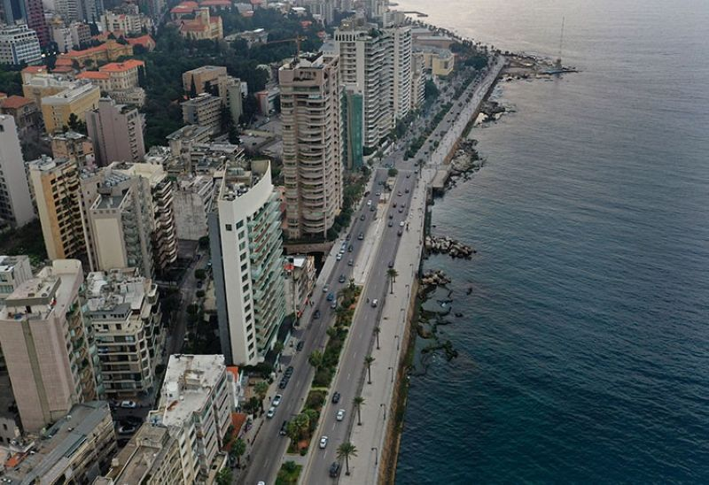 LEBANON. Beirut's waterfront promenade, along the Mediterranean Sea, is mostly empty after municipal policemen ordered people to leave, as the country's top security council and the government were meeting over the spread of the new coronavirus, in Beirut, Lebanon, Sunday, March 15, 2020. (AP)