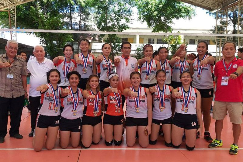 DAVAO. Davao Region women's volleyball team that won the gold medal in the National Prisaa Games 2019 held at the University of Mindanao Matina Gym, Davao City. (Marianne L. Saberon-Abalayan)