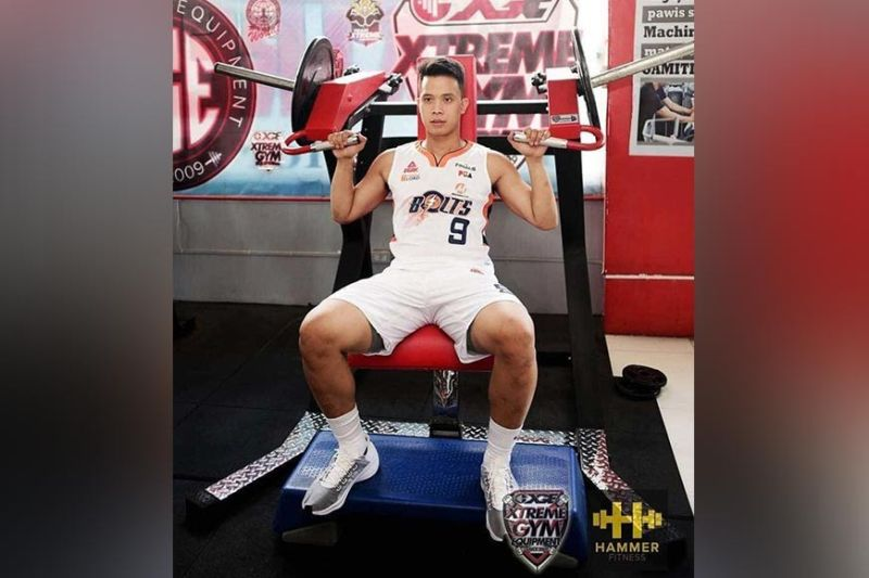 DAVAO. PBA player Baser Amer of the Meralco Bolts keeps a daily workout schedule while staying at home. (Jerome Castillo Facebook photo)